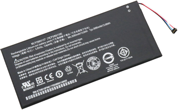 replacement Acer KT.0010Z.001 battery